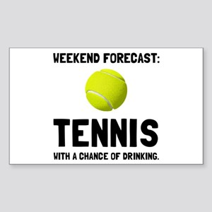 Weekend Forecast Tennis Sticker